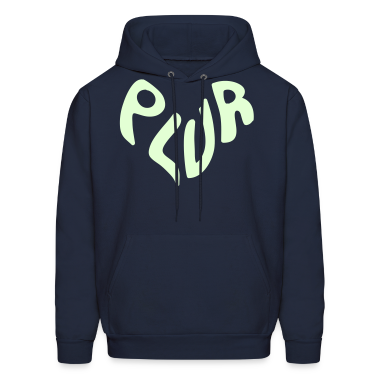 PLUR ravers manta for the EDM dance music generation - Peace, Love, Unity & Respect Hoodies