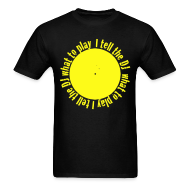 T-Shirts ~ Men's T-Shirt ~ I tell the DJ what to play spinning record