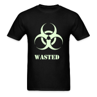 T-Shirts ~ Men's T-Shirt ~ Wasted Raver Warning Glow in the Dark