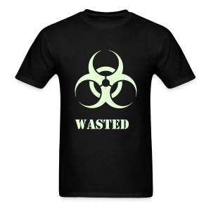 Wasted Raver Warning Glow in the Dark - Men's T-Shirt