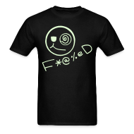 T-Shirts ~ Men's T-Shirt ~ Fucked Smiley Face Glow in the Dark