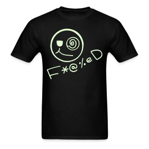 Fucked Smiley Face Glow in the Dark - Men's T-Shirt