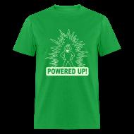 T-Shirts ~ Men's T-Shirt ~ Powered Up Raver t-shirt Glow in the dark
