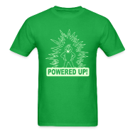 T-Shirts ~ Men's T-Shirt ~ Powered Up Raver t-shirt Glow in the dark