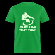 T-Shirts ~ Men's T-Shirt ~ DJ Spin that Tune raver t-shirt Glow in the dark