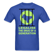 T-Shirts ~ Men's T-Shirt ~ Legalise the drug of a generation raver t-shirt Glow in the dark