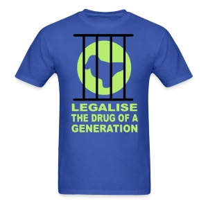 Legalise the drug of a generation raver t-shirt Glow in the dark - Men's T-Shirt