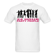 T-Shirts ~ Men's T-Shirt ~ 24 hour party people rave t-shirt