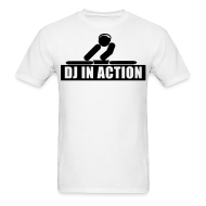 T-Shirts ~ Men's T-Shirt ~ DJ in action rave t-shirt