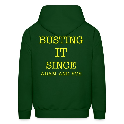 BUSTING IT Men's Hoodie (Green and Yellow) - Men's Hoodie