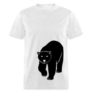 animal t-shirt polar bear ice black white penguin knut climate change stop global warming - Men's T-Shirt