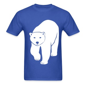 animal t-shirt polar bear ice black white penguin knut climate change stop global warming - Men's T-Shirt