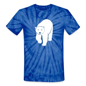 animal t-shirt polar bear ice black white penguin knut climate change stop global warming - Unisex Tie Dye T-Shirt