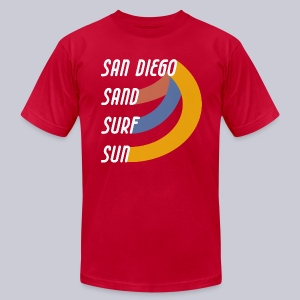 Sand Surf Sun - Men's T-Shirt by American Apparel