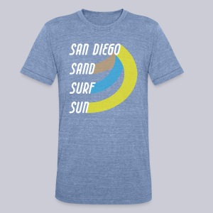 Sand Surf Sun - Unisex Tri-Blend T-Shirt by American Apparel