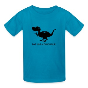 Eat Like a Dinosaur - white shirt - Kids' T-Shirt