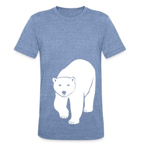 animal t-shirt polar bear ice black white penguin knut climate change stop global warming - Unisex Tri-Blend T-Shirt by American Apparel