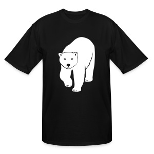 animal t-shirt polar bear ice black white penguin knut climate change stop global warming - Men's Tall T-Shirt