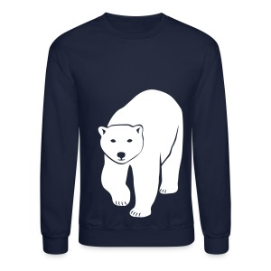 animal t-shirt polar bear ice black white penguin knut climate change stop global warming - Crewneck Sweatshirt