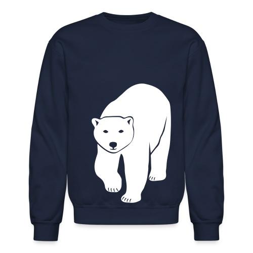 animal t-shirt polar bear ice black white penguin knut climate change stop global warming - Crewneck Sweatshirt