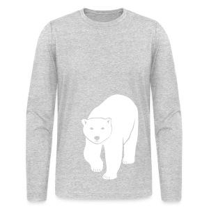 animal t-shirt polar bear ice black white penguin knut climate change stop global warming - Men's Long Sleeve T-Shirt by Next Level