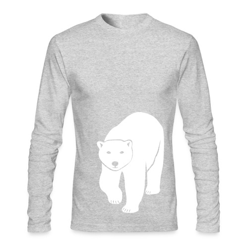 animal t-shirt polar bear ice black white penguin knut climate change stop global warming - Men's Long Sleeve T-Shirt by Next Level