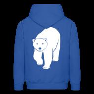 Hoodies ~ Men's Hoodie ~ animal t-shirt polar bear ice black white penguin knut climate change stop global warming