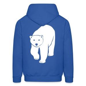 animal t-shirt polar bear ice black white penguin knut climate change stop global warming - Men's Hoodie