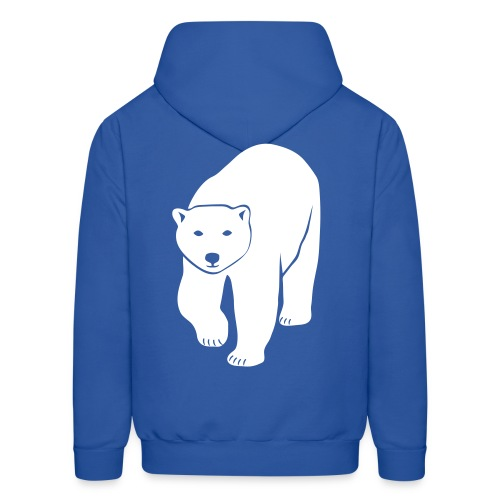 animal t-shirt polar bear ice black white penguin knut climate change stop global warming - Men's Hoodie