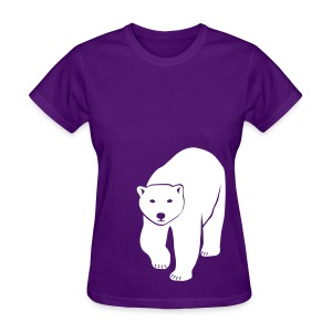 animal t-shirt polar bear ice black white penguin knut climate change stop global warming - Women's T-Shirt