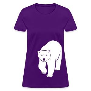animal t-shirt polar bear ice black white penguin knut climate change stop global warming - Women's T-Shirt