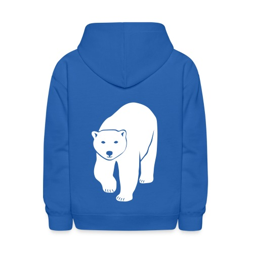 animal t-shirt polar bear ice black white penguin knut climate change stop global warming - Kids' Hoodie