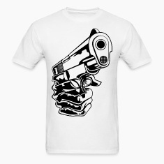 Hand with Gun HD DESIGN T-Shirts