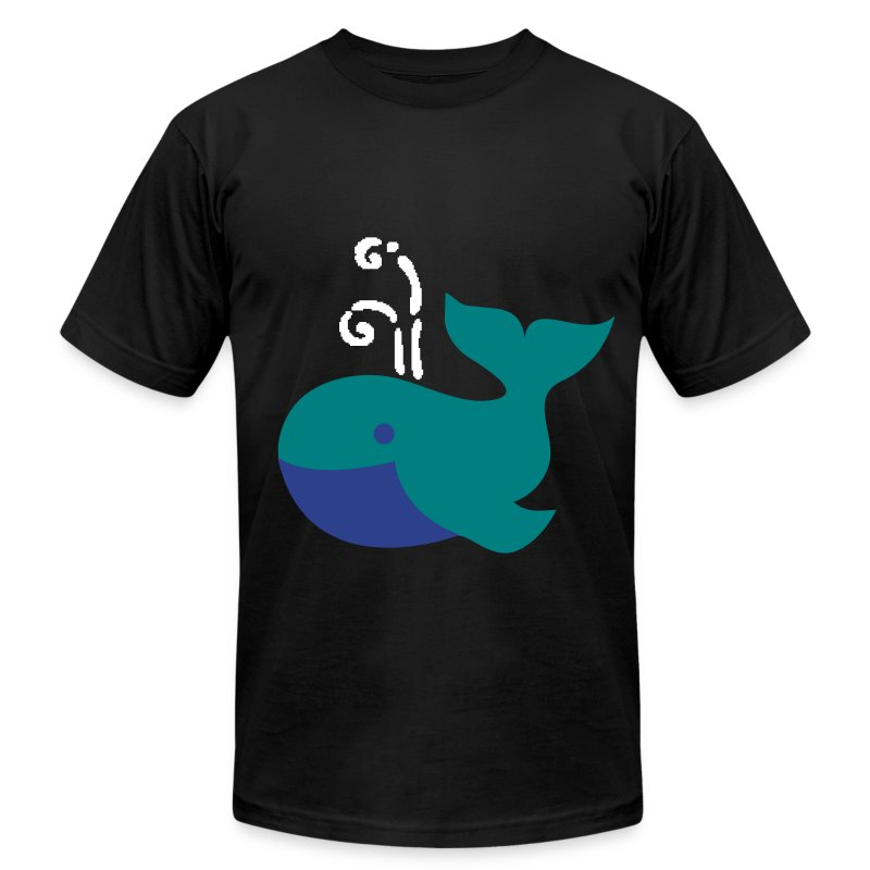 Whimsical Whale - Men's T-Shirt by American Apparel
