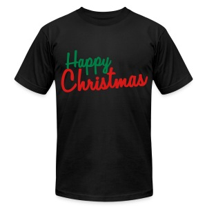 Happy Christmas - Men's T-Shirt by American Apparel