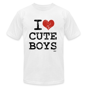 I Love 'Em Cute - Men's T-Shirt by American Apparel