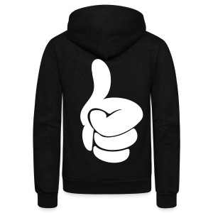 Thumbs Up Zip Hoodies/Jackets - stayflyclothing.com - Unisex Fleece Zip Hoodie by American Apparel