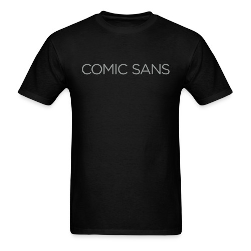Comic irony in drab gray, Men's T - Men's T-Shirt