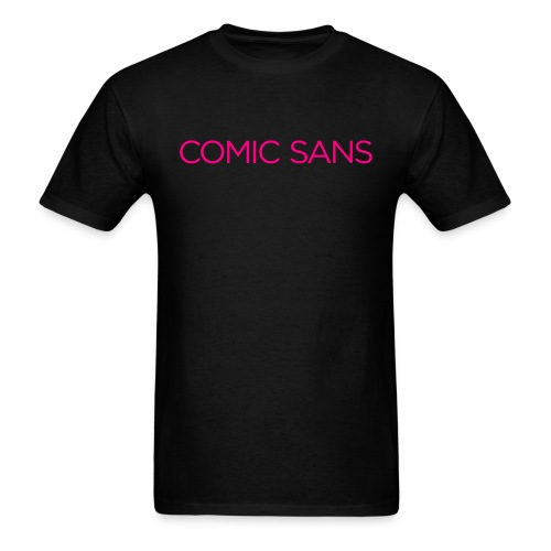 Comic irony in neon disco pink - Men's T-Shirt