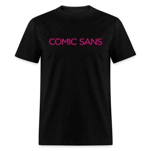 Comic irony in neon disco pink - Men's T-Shirt