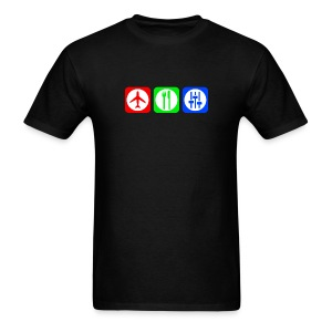 Fly, Eat, Tech - RGB - Men's T-Shirt