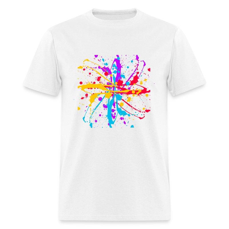 spray paint splatter multi color graffiti graphic t shirt. Black Bedroom Furniture Sets. Home Design Ideas