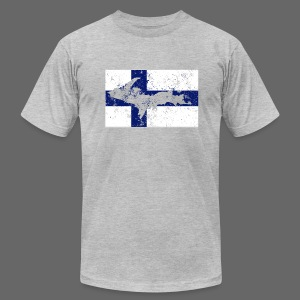 Finnish Flag U.P. - Men's T-Shirt by American Apparel