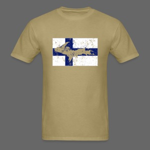 Finnish Flag U.P. - Men's T-Shirt