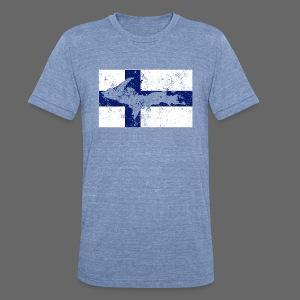 Finnish Flag U.P. - Unisex Tri-Blend T-Shirt