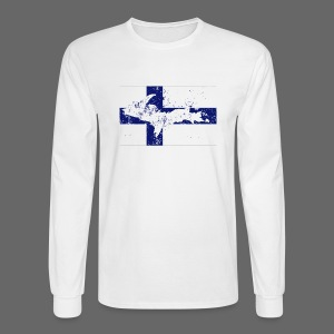 Finnish Flag U.P. - Men's Long Sleeve T-Shirt