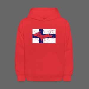 Finnish Flag U.P. - Kids' Hoodie