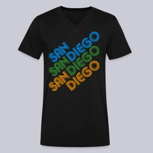 San Diego Cubed - Men's V-Neck T-Shirt by Canvas