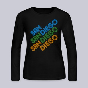 San Diego Cubed - Women's Long Sleeve Jersey T-Shirt