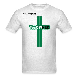 Tribute - TebOWNED Crucifix - Mens T-Shirt - Men's T-Shirt
